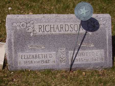 RICHARDSON, ELIZABETH D. - Franklin County, Ohio | ELIZABETH D. RICHARDSON - Ohio Gravestone Photos