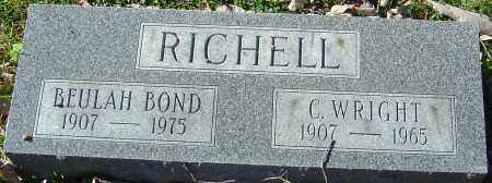 RICHELL, C. WRIGHT - Franklin County, Ohio | C. WRIGHT RICHELL - Ohio Gravestone Photos