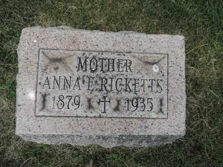 RICKETTS, ANNA E. - Franklin County, Ohio   ANNA E. RICKETTS - Ohio Gravestone Photos
