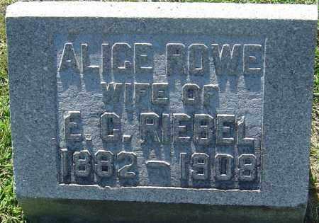RIEBEL, ALICE - Franklin County, Ohio   ALICE RIEBEL - Ohio Gravestone Photos