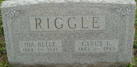 ALEXANDER RIGGLE, IDA BELLE - Franklin County, Ohio | IDA BELLE ALEXANDER RIGGLE - Ohio Gravestone Photos