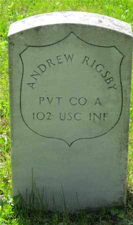 RIGSBY, ANDREW - Franklin County, Ohio | ANDREW RIGSBY - Ohio Gravestone Photos