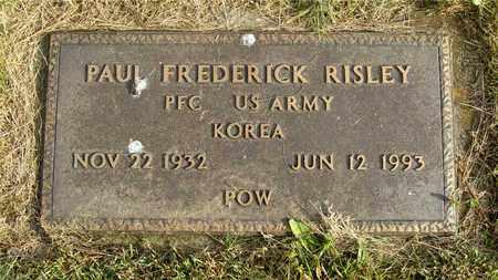 RISLEY, PAUL FREDERICK - Franklin County, Ohio | PAUL FREDERICK RISLEY - Ohio Gravestone Photos