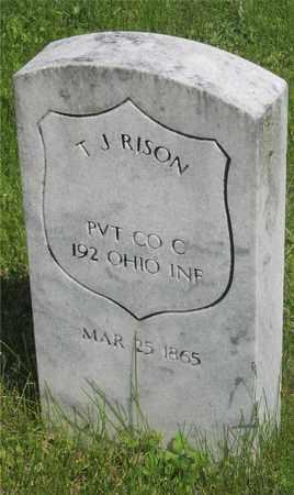 RISON, T. J. - Franklin County, Ohio | T. J. RISON - Ohio Gravestone Photos