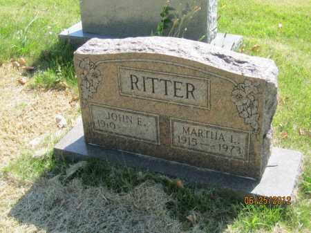 RITTER, MARTHA LOUISE - Franklin County, Ohio | MARTHA LOUISE RITTER - Ohio Gravestone Photos