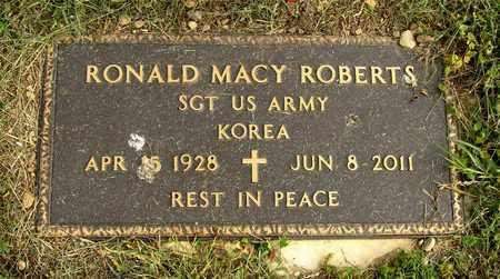 ROBERTS, RONALD MACY - Franklin County, Ohio | RONALD MACY ROBERTS - Ohio Gravestone Photos