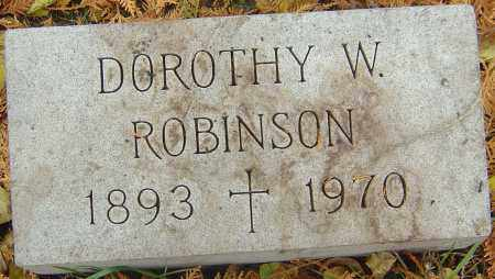 WARD ROBINSON, DOROTHY - Franklin County, Ohio | DOROTHY WARD ROBINSON - Ohio Gravestone Photos