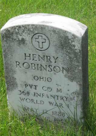 ROBINSON, HENRY - Franklin County, Ohio   HENRY ROBINSON - Ohio Gravestone Photos