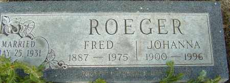 ROEGER, FRED - Franklin County, Ohio | FRED ROEGER - Ohio Gravestone Photos