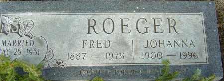 ROEGER, JOHANNA - Franklin County, Ohio | JOHANNA ROEGER - Ohio Gravestone Photos