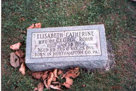 ROHR, ELISABETH CATHERINE - Franklin County, Ohio | ELISABETH CATHERINE ROHR - Ohio Gravestone Photos