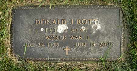ROTT, DONALD J. - Franklin County, Ohio   DONALD J. ROTT - Ohio Gravestone Photos