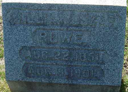 ROWE, WILLIAM OSCAR - Franklin County, Ohio | WILLIAM OSCAR ROWE - Ohio Gravestone Photos