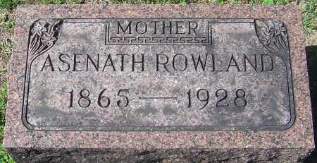 ROWLAND, ASENATH - Franklin County, Ohio | ASENATH ROWLAND - Ohio Gravestone Photos