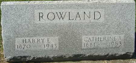 ROWLAND, CATHERINE A - Franklin County, Ohio | CATHERINE A ROWLAND - Ohio Gravestone Photos