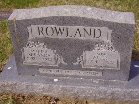 ROWLAND, WILLIS - Franklin County, Ohio | WILLIS ROWLAND - Ohio Gravestone Photos