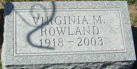 ROWLAND, VIRGINIA M - Franklin County, Ohio | VIRGINIA M ROWLAND - Ohio Gravestone Photos