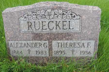 RUECKEL, THERESA F - Franklin County, Ohio | THERESA F RUECKEL - Ohio Gravestone Photos