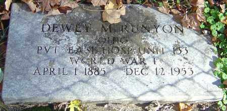 RUNYON, DEWEY M - Franklin County, Ohio | DEWEY M RUNYON - Ohio Gravestone Photos