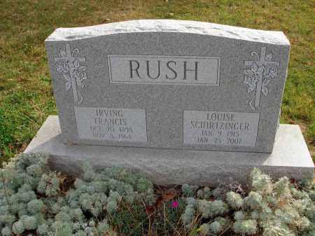 SCHIRTZINGER RUSH, LOUISE - Franklin County, Ohio | LOUISE SCHIRTZINGER RUSH - Ohio Gravestone Photos