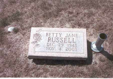 RUSSELL, BETTY JANE - Franklin County, Ohio | BETTY JANE RUSSELL - Ohio Gravestone Photos