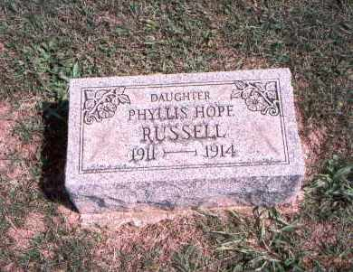 RUSSELL, PHYLLIS HOPE - Franklin County, Ohio | PHYLLIS HOPE RUSSELL - Ohio Gravestone Photos