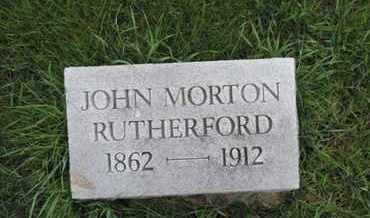 RUTHERFORD, JOHN MORTON - Franklin County, Ohio | JOHN MORTON RUTHERFORD - Ohio Gravestone Photos