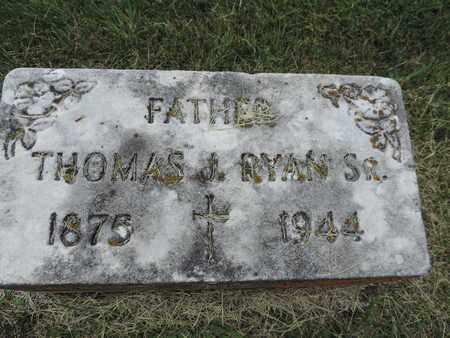 RYAN, THOMAS J. - Franklin County, Ohio   THOMAS J. RYAN - Ohio Gravestone Photos