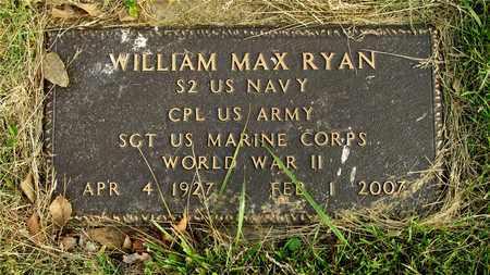 RYAN, WILLIAM MAX - Franklin County, Ohio | WILLIAM MAX RYAN - Ohio Gravestone Photos