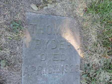 RYDER, THOMAS - Franklin County, Ohio   THOMAS RYDER - Ohio Gravestone Photos