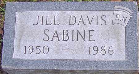 DAVIS SABINE, JILL - Franklin County, Ohio | JILL DAVIS SABINE - Ohio Gravestone Photos