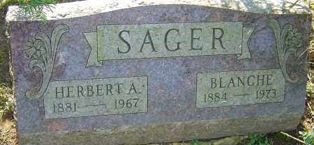 SAGER, BLANCHE - Franklin County, Ohio   BLANCHE SAGER - Ohio Gravestone Photos