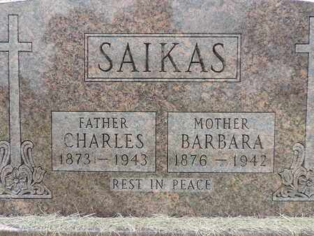 SAIKAS, CHARLES - Franklin County, Ohio | CHARLES SAIKAS - Ohio Gravestone Photos