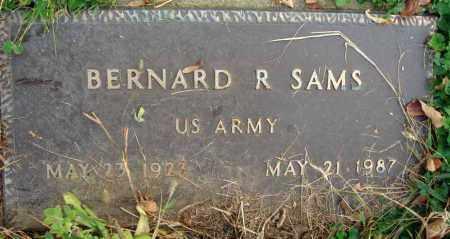 SAMS, BERNARD R. - Franklin County, Ohio | BERNARD R. SAMS - Ohio Gravestone Photos