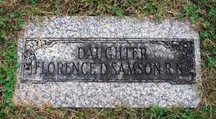 SAMSON, FLORENCE D. - Franklin County, Ohio   FLORENCE D. SAMSON - Ohio Gravestone Photos
