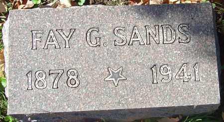 SANDS, FAY G - Franklin County, Ohio | FAY G SANDS - Ohio Gravestone Photos