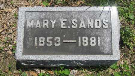 SANDS, MARY E. - Franklin County, Ohio | MARY E. SANDS - Ohio Gravestone Photos