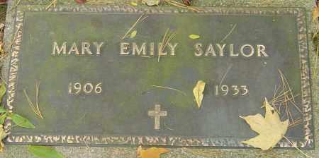 BAKER SAYLOR, MARY EMILY - Franklin County, Ohio | MARY EMILY BAKER SAYLOR - Ohio Gravestone Photos