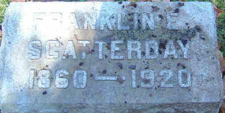 SCATTERDAY, FRANKLIN E - Franklin County, Ohio | FRANKLIN E SCATTERDAY - Ohio Gravestone Photos