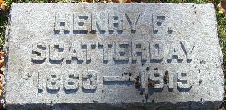 SCATTERDAY, HENRY F - Franklin County, Ohio   HENRY F SCATTERDAY - Ohio Gravestone Photos