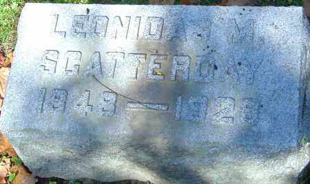 SCATTERDAY, LEONIDAS M - Franklin County, Ohio | LEONIDAS M SCATTERDAY - Ohio Gravestone Photos