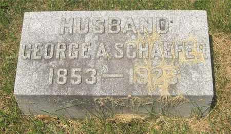 SCHAEFER, GEORGE A. - Franklin County, Ohio | GEORGE A. SCHAEFER - Ohio Gravestone Photos