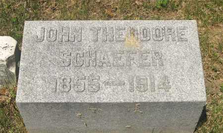 SCHAEFER, JOHN THEODORE - Franklin County, Ohio | JOHN THEODORE SCHAEFER - Ohio Gravestone Photos
