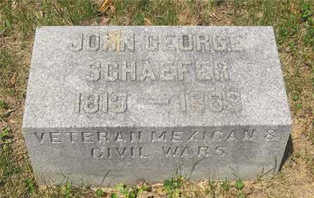 SCHAEFER, JOHN GEORGE - Franklin County, Ohio | JOHN GEORGE SCHAEFER - Ohio Gravestone Photos