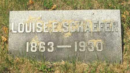 SCHAEFER, LOUISE E. - Franklin County, Ohio | LOUISE E. SCHAEFER - Ohio Gravestone Photos