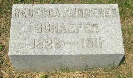 SCHAEFER, REBECCA - Franklin County, Ohio | REBECCA SCHAEFER - Ohio Gravestone Photos