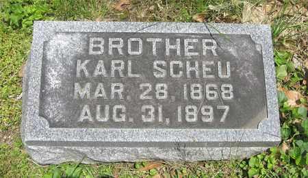 SCHEU, KARL - Franklin County, Ohio   KARL SCHEU - Ohio Gravestone Photos