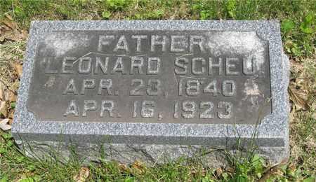 SCHEU, LEONARD - Franklin County, Ohio | LEONARD SCHEU - Ohio Gravestone Photos