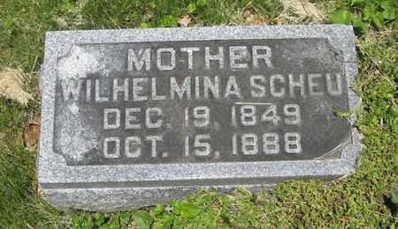 SCHEU, WILHELMINA - Franklin County, Ohio | WILHELMINA SCHEU - Ohio Gravestone Photos