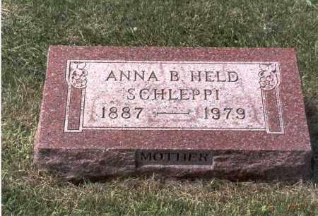 SCHLEPPI, ANNA B. - Franklin County, Ohio | ANNA B. SCHLEPPI - Ohio Gravestone Photos